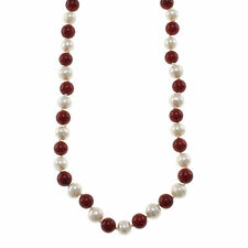 Pearlz Ocean Gemstone and Freshwater Pearl Knotted Endless Necklace
