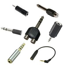 2.5mm 3.5mm 6.35mm Male Female Audio Mono Stereo TRS TRRS Adapter wholesale lots