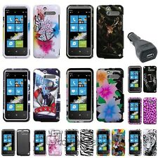 11x Choice Hard Phone Case For HTC Arrive Black+USB Car Charger Adapter
