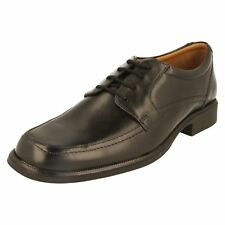 Mens black leather clarks lace up shoes style Hold spring G fitting
