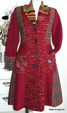 IVKO Wolle Mantel Embroidered Coat Eclecticism cherry Motif on the Back 32703