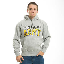 United States US Army Military Gray Winter Pullover Sweatshirt Hoodie Hoody