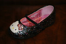 Toddler Shoes: Hello Kitty Black Sequined Shoe w/Strap / Sizes 5,6,7,8,9 &10