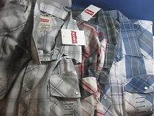 NWT  LEVI'S Levis 2 pocket l/s WESTERN STYLE  SHIRT LONG SLEEVE MORE SIZE/COLORS