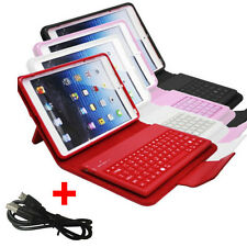 Leather Bluetooth Wireless Keyboard Case Cover With Stand For Apple iPad Mini