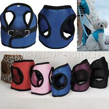 Soft Mesh Dog Harness Any Size Pet Puppy Cat Clothing Step In Vest New 6 Colors