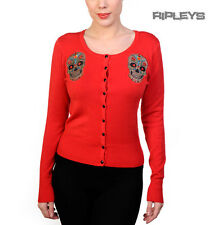 BANNED Ladies Pinup SUGAR SKULL CARDIGAN Top Muerte RED All Sizes