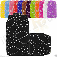Leather Diamond Glitter Pull Tab Case Cover Skin For ZTE Blade G V880G