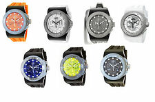 New Mens Invicta Akula Swiss Chronograph Silicone Strap Watch in Multiple Colors