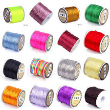 Pick 70m 1.5mm Jewelry Cord Chinese Knot Nylon Rattail Thread Wire Handcraft DIY