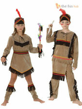Girls Boys Red Indian Costume Fancy Dress Book Week Native Pocahontas Kids