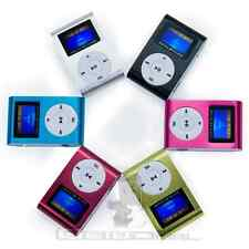 Reproductor Lector MP3 Player Clip Aluminio Pantalla LCD soporta 32GB SD SDHC