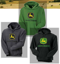 John Deere *TRADEMARK LOGO* Hoodie Hooded Sweatshirt GREEN BLACK OR DARK HEATER