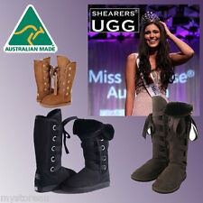 CLEARANCE SALE HAND-MADE Australia SHEARERS UGG Roxy Tall Sheepskin Long Boots