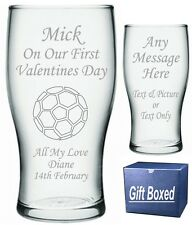 Personalised Pint Glass Valentine's Gift Boyfriend Husband Partner