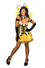 Honey Bumble Bee Bumblebee Bug Tutu Dress Sexy Adult Womens Costume & Wings