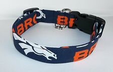 Denver Broncos NFL Dog Collar custom made adjustable made with fabric