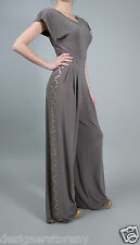 Norma Kamali Jersey Jumpsuit in Grey size XS
