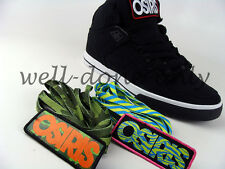 Osiris NYC 83 VLC BLACK WHITE RED interchangeable patches mens vegan skate shoes