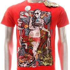 m113r Minute Mirth T-shirt S M L XL Tattoo Skull Sexy Lady Rider Fixed Gear Bike