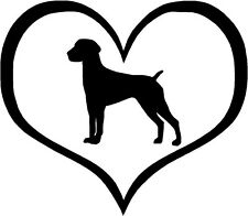 """Short Haired Pointer Dog Heart 4.3"""" x 3.75"""" - Choose Color - Decal Sticker #1465"""