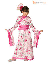 Girls Asian Geisha Princess Fancy Dress Chinese New Year Costume Oriental Outfit