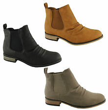 LAVISH SQUEAKY WOMENS/LADIES FASHION ANKLE BOOTS/SHOES ELASTIC/HEEL/COMFORTABLE