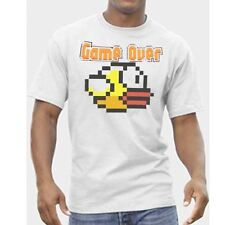 Mens Flappy Bird Game Over T-Shirt Gaming Top Gamer Clothing