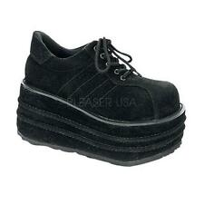 Demonia Tempo-08 goth gothic cyber black platform shoes sneakers men's 4-13