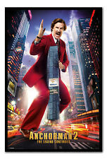 Framed Anchorman 2 Ron Burgundy Poster Ready To Hang - Choice Of Frame Colours