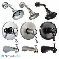 Rainfall Shower Faucet - Showerhead Diverter Valve & Tub Spout