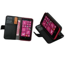 For Nokia Lumia 620 - 8 GB 4Colors Leather Folio Wallet Flip Case&LCD Film  h