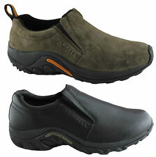MERRELL JUNGLE MOC MENS CASUAL LEATHER SLIP ON COMFORTABLE CUSHIONED SHOES