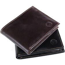 Timberland Mens Wallet Leather Passcase Bifold 2 ID Windows Semi Glossy Dressy