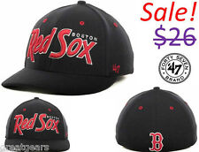 Boston Red Sox Men 47 Brand FlexFit Fitted MLB Pro Baseball Team Hat Cap Apparel