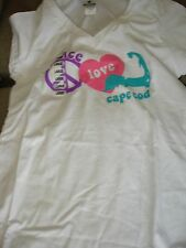 RESORT WEAR CAPE COD TEE SHIRT WITH PEACE AND LOVE