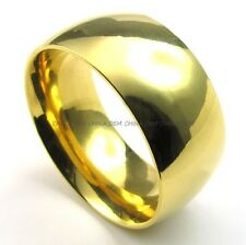 Men's Jewelry 316L Stainless Steel Heavy Solild Gold 10MM Party Ring M072987