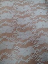 "CHEAP WHITE FLORAL DESIGN DRESS LACE FABRIC 59""(150cm) 1,5,10 or 25mts, Free P&P"