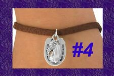 HORSE HORSESHOE Cowboy Barrel Race Rodeo Cowgirl Tx Western Silver Plate Jewelry