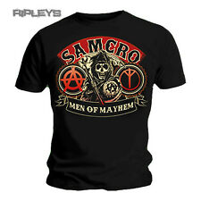 Official T Shirt SONS OF ANARCHY Black SAMCRO REAPER Mayhem All Sizes