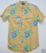 Tommy Hilfiger Mens Slim Fit Yellow Multi Floral S/S Double Pocket Casual Shirt
