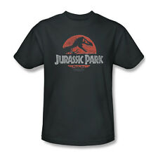 Jurrasic Park Movie Faded Title Logo Picture Youth Ladies Jr Men L/S T-shirt Top