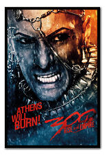 Framed 300 Rise Of An Empire Athens Will Burn Poster - Choice Of Frame Colours