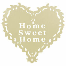 METAL HOME SWEET HOME HEART WALL HANGING WREATH - VINTAGE SHABBY CHIC DECORATION