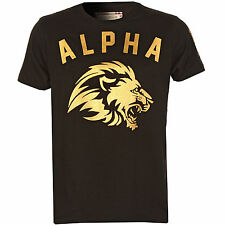Ringspun Mens Alpha Foil T-Shirt In Black From Get The Label