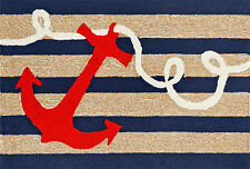 "COASTAL AREA RUG - ""ANCHOR BAY"" INDOOR/OUTDOOR RUG - ANCHOR RUG"