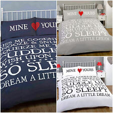 Mine ♥ Yours Bedtime Couple Duvet Cover – Perfect Christmas Bedding Set