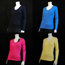 NWT Tommy Hilfiger's Women Long Sleeve Basic V- Neck 8 Colors