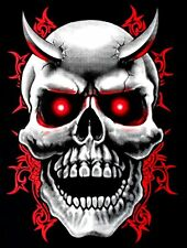 EVIL DEMON DEVIL GOTHIC HORNED TRIBAL WICKED BIKER SKULL T-SHIRT X98