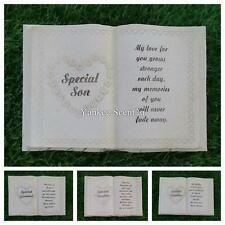 Funeral Graveside Grave Memorial Book Heart VARIETY
